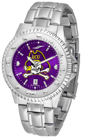 East Carolina Pirates Men's Competitor Steel Watch With AnoChome Dial