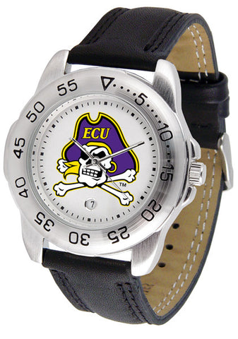 East Carolina Pirates  Men Sport Watch With Leather Band