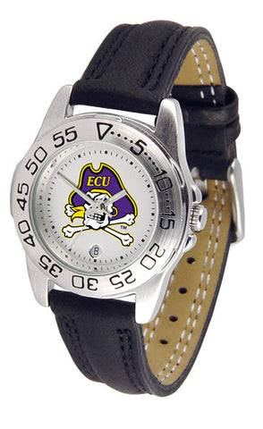 East Carolina Pirates Ladies Sport Watch With Leather Band