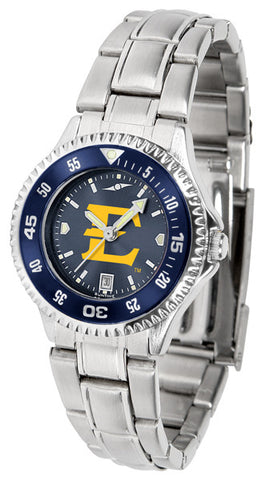 Ladies East Tennessee State Buccaneers - Competitor Steel AnoChrome Watch - Color Bezel
