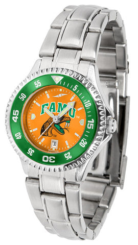 Ladies Florida A&M Rattlers - Competitor Steel AnoChrome Watch - Color Bezel