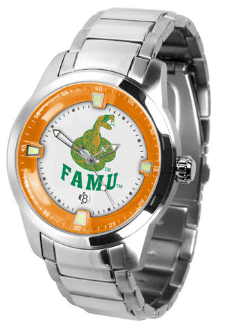 Mens Florida A&M Rattlers - Titan Steel Watch