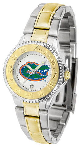 Florida Gators Ladies Competitor Two-Tone Watch With White Dial