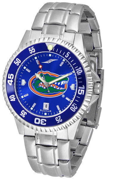 Florida Gators Men Competitor Steel Watch With AnoChome Dial, Color Bezel