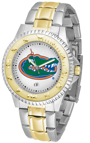 Florida Gators Men Competitor Two-Tone Watch With White Dial