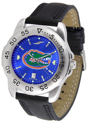 Florida Gators Men's Sport Watch With Leather Band And Blue Dial
