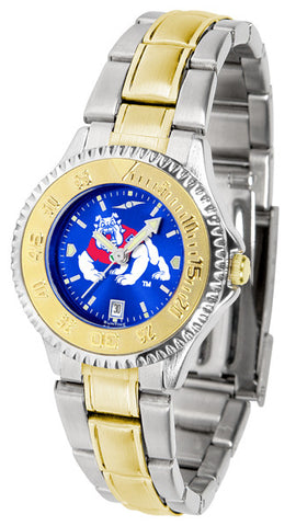 Ladies Fresno State Bulldogs - Competitor Two Tone AnoChrome Watch