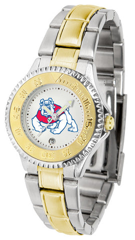 Ladies Fresno State Bulldogs - Competitor Two Tone Watch