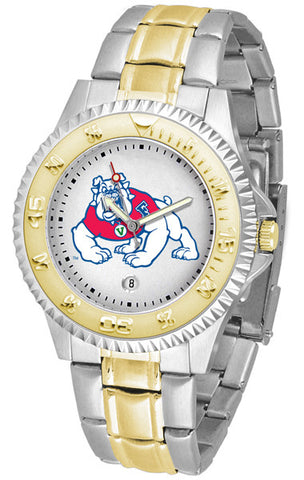 Mens Fresno State Bulldogs - Competitor Two Tone Watch