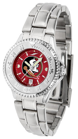 Florida State Seminoles Ladies Competitor Steel Watch With AnoChome Dial