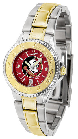 Florida State Seminoles  Ladies Competitor Two-Tone Watch With Anochrome Dial