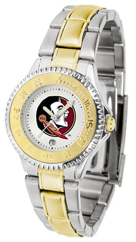 Florida State Seminoles Ladies Competitor Two-Tone Watch