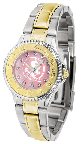 Florida State Seminoles Ladies Competitor Two-Tone Watch With Mother Of Pearl Dial