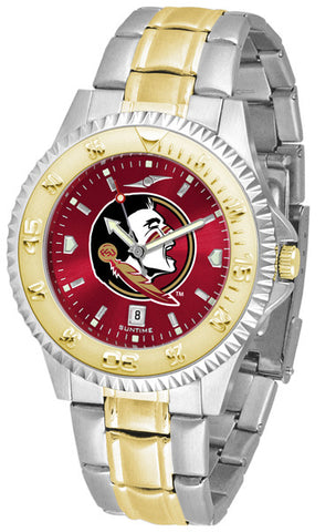 Florida State Seminoles Men  Competitor Two-Tone Watch With Anochrome Dial