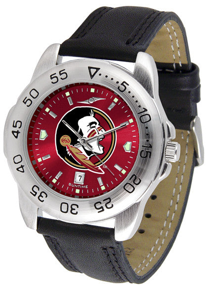 Florida State Seminoles Men Sport Watch With Leather Band & AnoChrome Dial