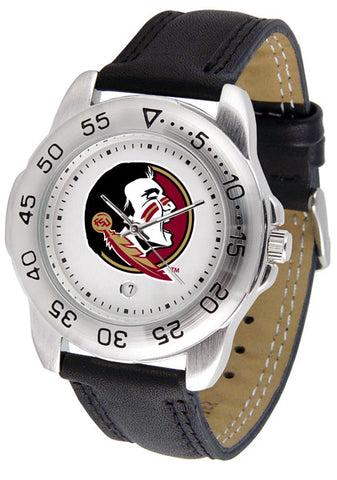 Florida State Seminoles Men Sport Watch With Leather Band