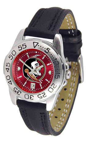Florida State Seminoles Ladies Sport Watch With Leather Band & AnoChrome Dial