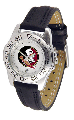 Florida State Seminoles Ladies Sport Watch With Leather Band
