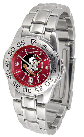 Florida State Seminoles Ladies Sport Steel Watch With AnoChrome Dial