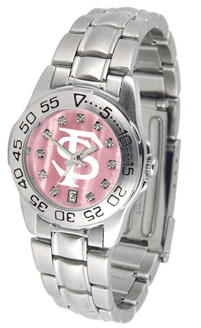 Florida State Seminoles Ladies Sport Steel Watch With Mother Of Pearl Dial