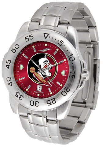 Florida State Seminoles Men Sport Steel Watch With AnoChrome Dial
