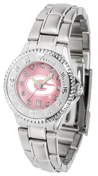 Georgia Bulldogs Ladies Competitor Steel Watch With Mother Of Pearl Dial