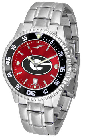 Georgia Bulldogs Men Competitor Steel Watch With AnoChome Dial, Color Bezel