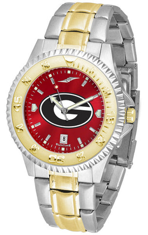 Georgia Bulldogs Men's Competitor Two-Tone Watch With Anochrome Red Dial