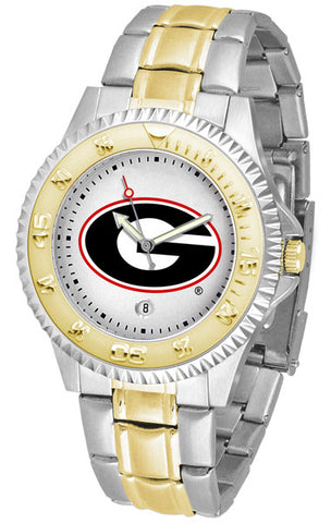 Georgia Bulldogs Men's Competitor Two-Tone Watch With White Dial