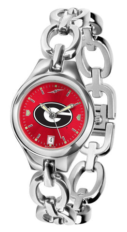 Georgia Bulldogs Ladies Eclipse Watch With Red Dial
