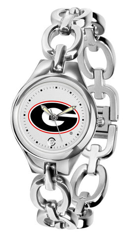 Georgia Bulldogs Ladies Eclipse Watch With White Dial