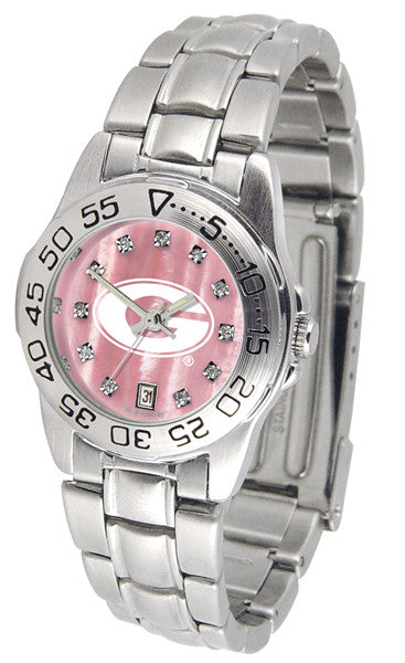 Georgia Bulldogs Ladies Sport Steel Watch With Mother Of Pearl Dial