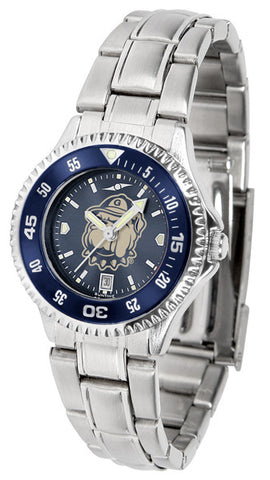 Ladies Georgetown Hoyas - Competitor Steel AnoChrome Watch - Color Bezel