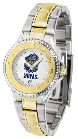 Ladies Georgetown Hoyas - Competitor Two Tone Watch