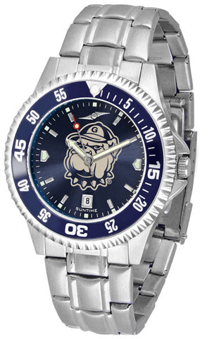 Mens Georgetown Hoyas - Competitor Steel AnoChrome Watch - Color Bezel