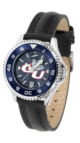 Ladies Gonzaga Bulldogs - Competitor AnoChrome Watch - Color Bezel