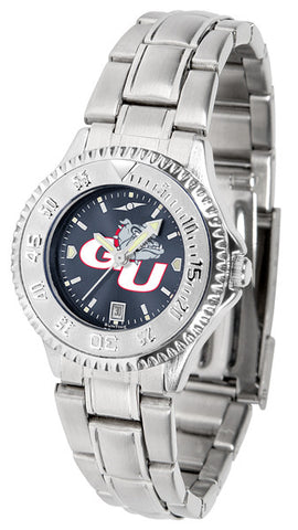 Ladies Gonzaga Bulldogs - Competitor Steel AnoChrome Watch