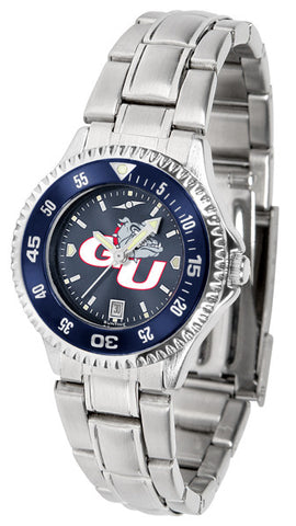 Ladies Gonzaga Bulldogs - Competitor Steel AnoChrome Watch - Color Bezel