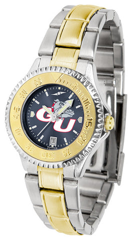 Ladies Gonzaga Bulldogs - Competitor Two Tone AnoChrome Watch