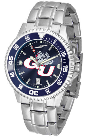 Mens Gonzaga Bulldogs - Competitor Steel AnoChrome Watch - Color Bezel