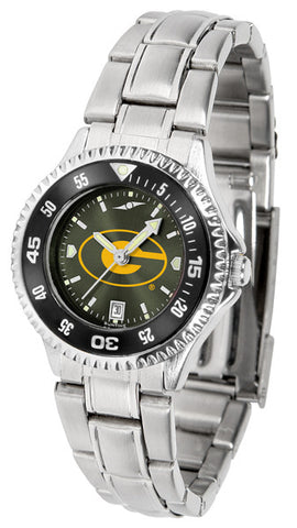 Ladies Grambling State University Tigers - Competitor Steel AnoChrome Watch - Color Bezel