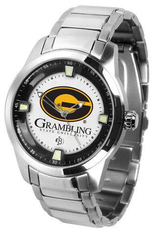 Mens Grambling State University Tigers - Titan Steel Watch