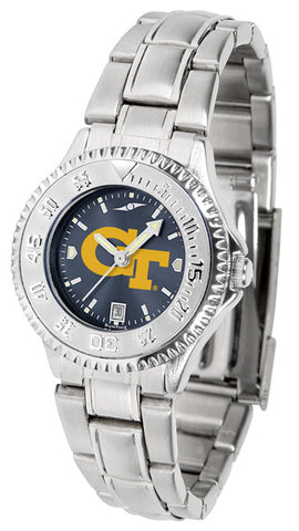 Ladies Georgia Tech Yellow Jackets - Competitor Steel AnoChrome Watch