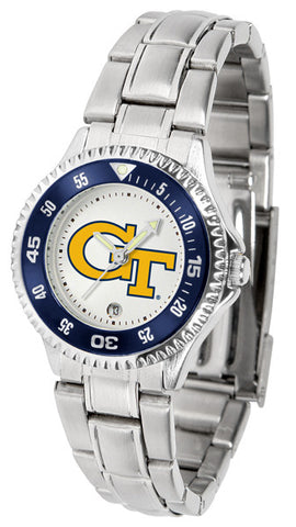 Ladies Georgia Tech Yellow Jackets - Competitor Steel Watch