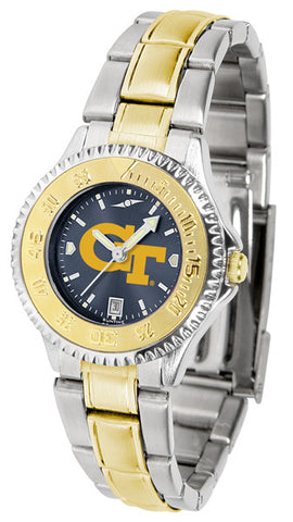 Ladies Georgia Tech Yellow Jackets - Competitor Two Tone AnoChrome Watch