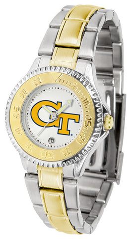Ladies Georgia Tech Yellow Jackets - Competitor Two Tone Watch