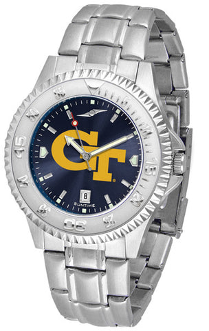 Mens Georgia Tech Yellow Jackets - Competitor Steel AnoChrome Watch