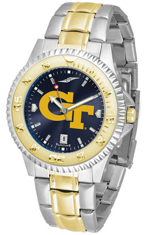 Mens Georgia Tech Yellow Jackets - Competitor Two Tone AnoChrome Watch