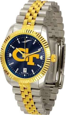 Mens Georgia Tech Yellow Jackets - Executive AnoChrome Watch