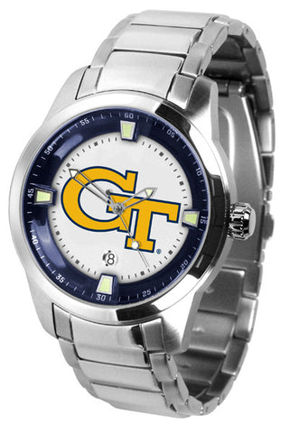 Mens Georgia Tech Yellow Jackets - Titan Steel Watch
